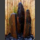 Triolithen Quellsteine grau-brauner Schiefer 150cm