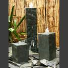 Quellstein 3er Set grüner Dolomit viereckig 50cm