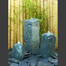 3 Quellstein Monolithen grüner Dolomit 70cm
