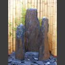 Triolithen Komplettbrunnen graubrauner Schiefer 120cm