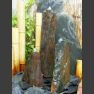 Triolithen Quellsteine grau-brauner Schiefer 75cm
