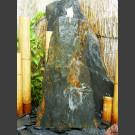 Schiefer Monolith Quellstein  graubraun 75cm hoch