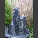 Triolithen Gartenbrunnen blau-grüner Schiefer 50cm