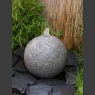 Granit Kugel Sprudelstein grau 30cm