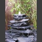 Kaskaden Komplettset Brunnen grau-schwarz 7stufig
