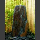 Schiefer Monolith Quellstein  graubraun 95cm hoch