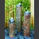 3er Gruppe Basaltsäulen Quellsteine poliert 75cm