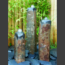 Basaltsäulen 3er Brunnenset poliert 75cm