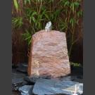 Gartenbrunnen Komplettset rot-bunter Schiefer 45cm