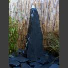 Schiefer Monolith Quellstein  grauschwarz 60cm hoch