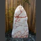 Ice Monolith Brunnen weiß-rosa 100cm