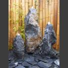 Belgisch Granit Gartenbrunnen 3er Set 70cm