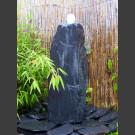 Komplettset Brunnen grauschwarzer Schiefer 75cm