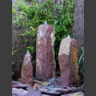 Triolithen Komplettbrunnen rotbunter Schiefer 75cm