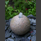 Granit Kugel Sprudelstein rot 20cm