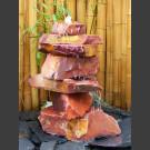 Kaskaden Komplettset Brunnen roter Sandstein 85cm