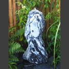 Quellstein Säule Marmor schwarzweiß 95cm