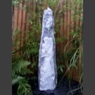 Quellstein Säule Marmor weißgrau 120cm