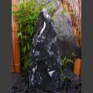 Marmor Komplettset Brunnen schwarzweiß 65cm