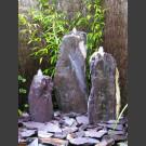 Triolithen Quellsteine lila Schiefer 75cm