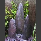 Triolithen Quellsteine lila Schiefer 120cm