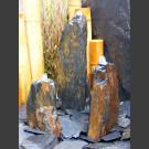 Triolithen Quellsteine grau-brauner Schiefer 50cm