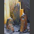 Triolithen Komplettbrunnen graubrauner Schiefer 50cm