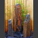 Triolithen Komplettbrunnen graubrauner Schiefer 95cm
