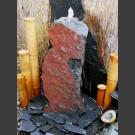 Komplettset Brunnen rotschwarzer Schiefer 75cm