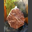 Quellstein Felsen rot-weißer Marmor 50cm