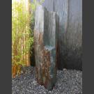 Solitärstein grau-brauner Schiefer 107cm hoch