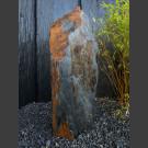 Solitärstein grau-brauner Schiefer 101cm hoch