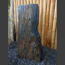 Solitärstein grau-brauner Schiefer 92cm hoch