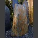 Solitärstein grau-brauner Schiefer 93cm hoch