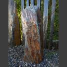 Monolith grau-brauner Schiefer 92cm hoch