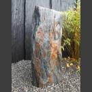 Monolith grau-brauner Schiefer 93cm hoch