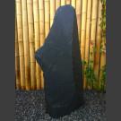 Monolith schwarzer Schiefer 110cm hoch