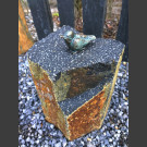 Bronze Figur Singvogel auf Basaltsäule