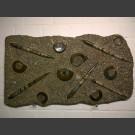 Fossilien Reliefplatte mit Ammoniten und Orthoceras