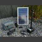 Solarpumpenset Napoli mit Akku und LED max.750l/h