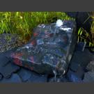 Bachlaufkaskade schwarz-rot-grüner Marmor 300kg