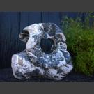 Showstone Skulptur schwarz-weiß 93cm