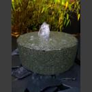 Granit Mühlstein Quellstein schwarz 30cm