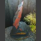 Schieferskulptur schwarz-bunt 157cm hoch