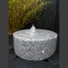 Granit Mühlstein Quellstein grau 40cm