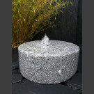 Mühlstein Brunnen grauer Granit 40cm
