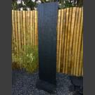 Schiefer Taco Platte schwarz 200cm mit Schiefersockel