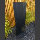 Schiefer Taco Platte schwarz 150cm mit Schiefersockel