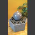 Fontaine d'intérieur set  Boule en Pierre bleue en bassin de granit hexagonal