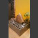 Fontaine d'intérieur set Bloc erratique de granite rouge en bassin de granit carré